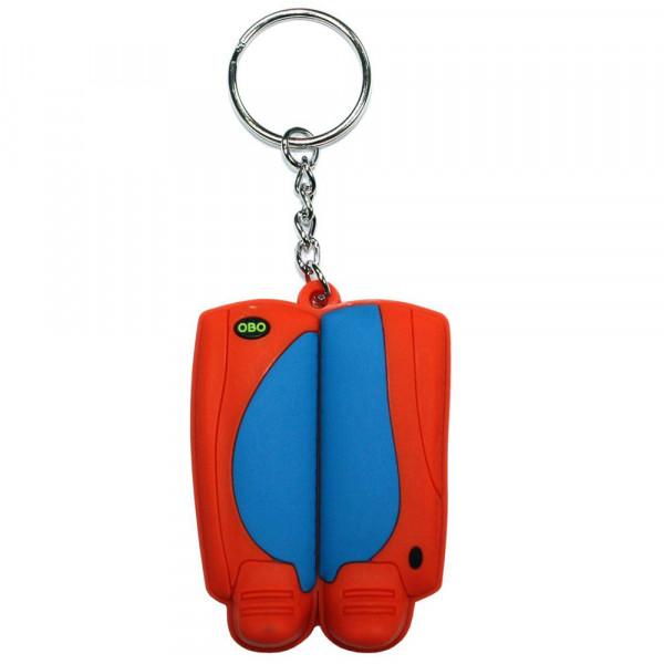 OBO keyring legguard/kicker blue/orange