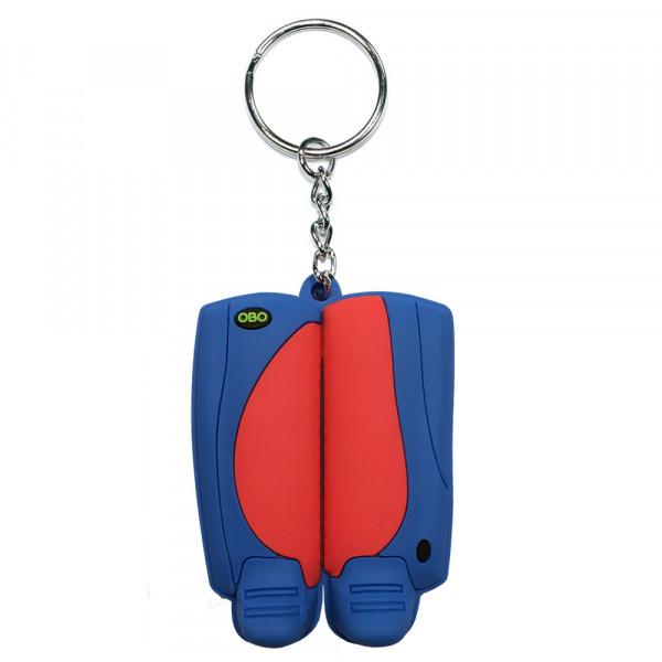 OBO keyring legguard/kicker red/blue