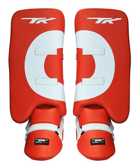 TK 3.5 legguards + kickers Orange/White XS