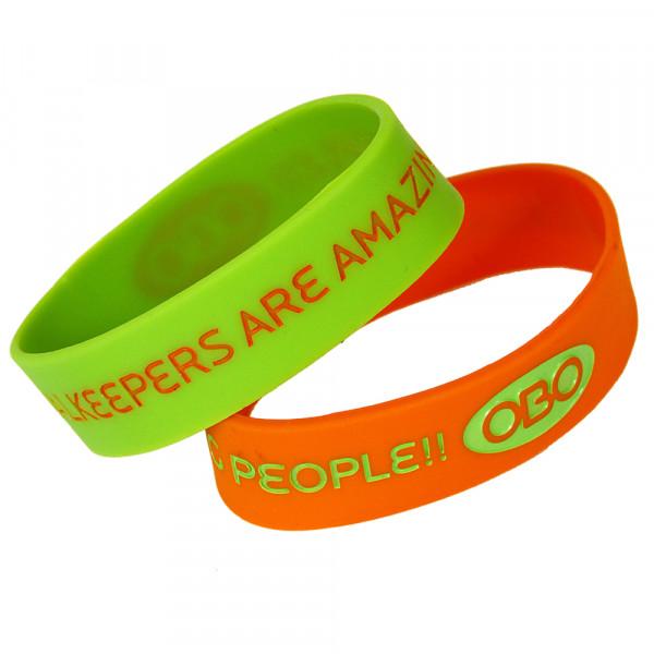 OBO wristband green + orange