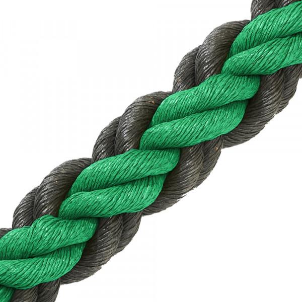 Hockeytouw groen/zwart/30 meter
