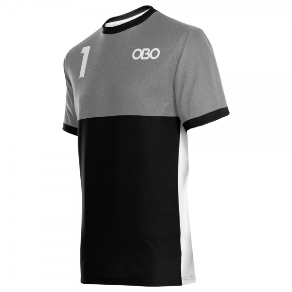 Obo custom goalieshirt grey/black
