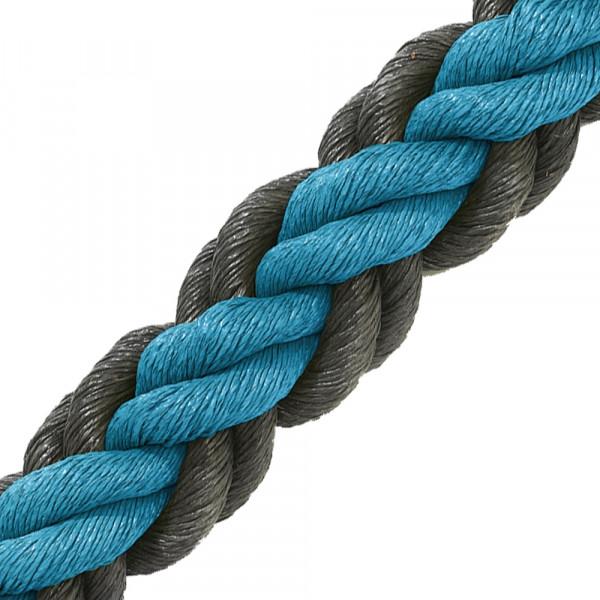 Hockeytouw blauw/zwart/30 meter