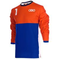 Obo custom goalieshirt orange/blue M