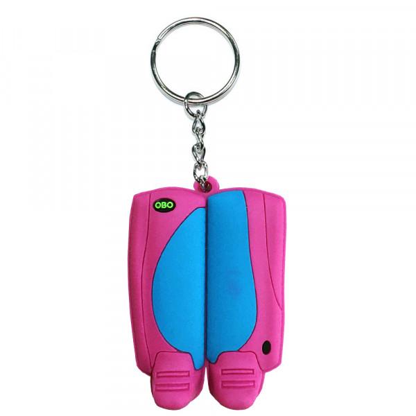 OBO keyring legguard/kicker peron/pink