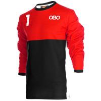 Obo custom goalieshirt red/black M