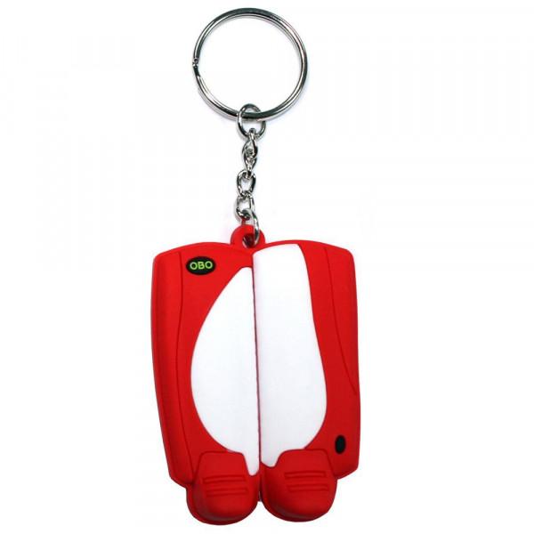 OBO keyring legguard kicker white/red