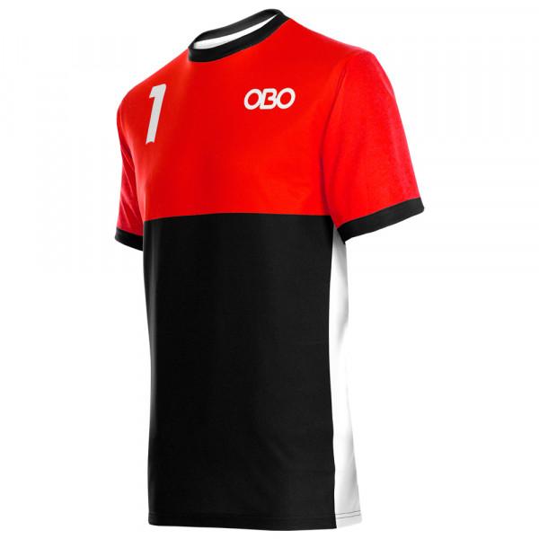 Obo custom goalieshirt red/black