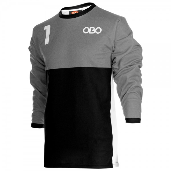 Obo custom goalieshirt grey/black