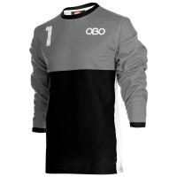 Obo custom goalieshirt grey/black M