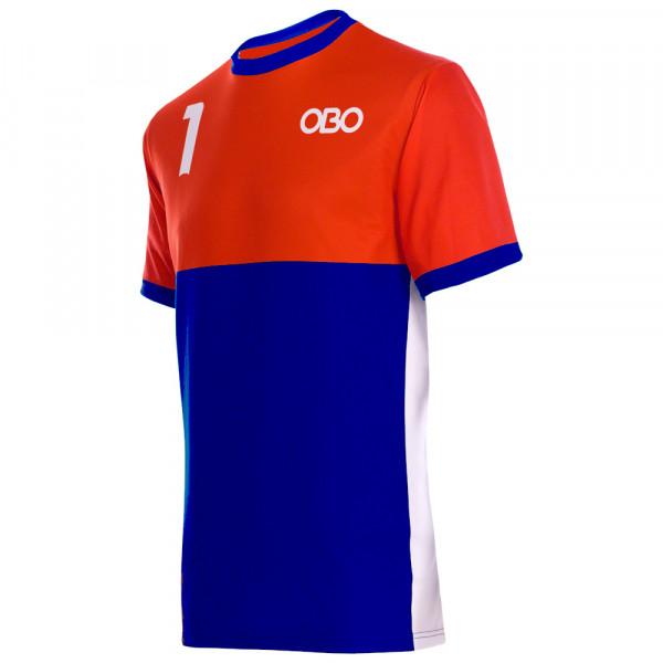 Obo custom goalieshirt orange/blue